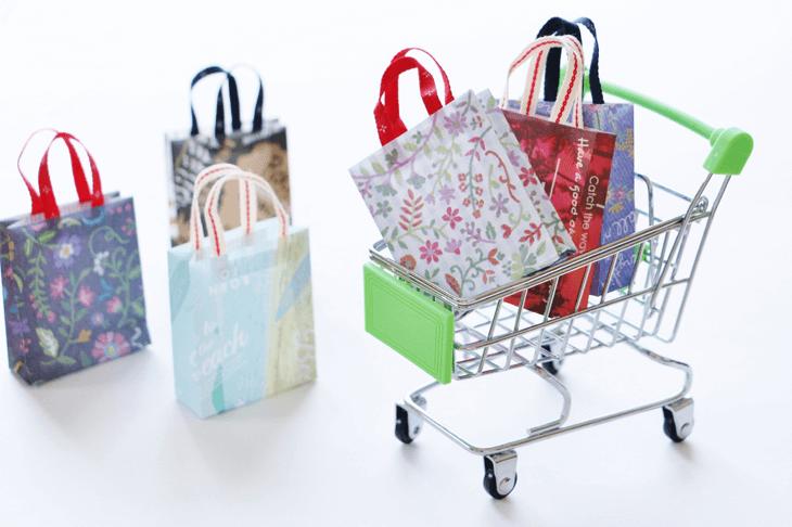 ショッピングカートとショッピング袋